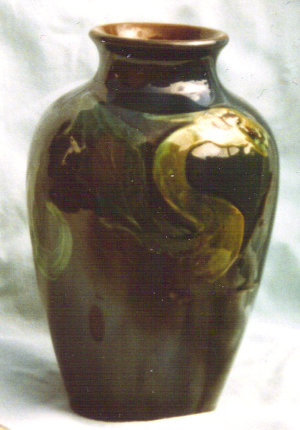 Longpark Art Pottery Vase decorated with a grotesque beast