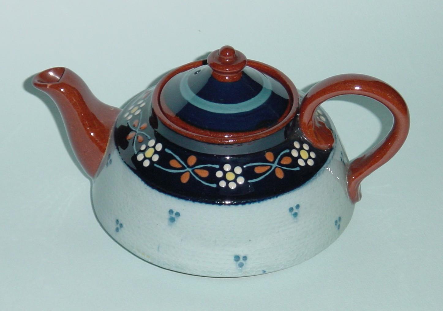 Longpark Pottery Teapot with unusual pattern