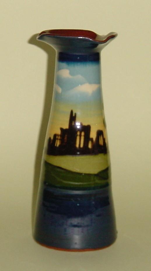 Longpark Pottery Vase with \'Tintern Abbey\' ruins decoration