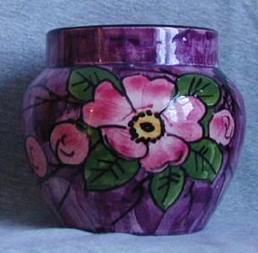 Longpark Pottery Vase with Rose pattern