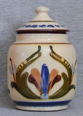 Longpark Pottery Tobacco Jar, Scandy pattern