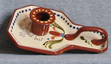 Longpark Pottery Candleholder, Scandy pattern
