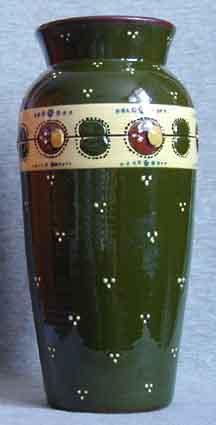 Longpark Pottery Vase with Ladybird decoration