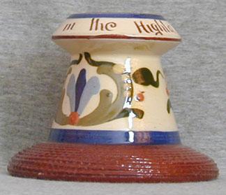 Longpark Pottery Matchstriker with scandy decoration