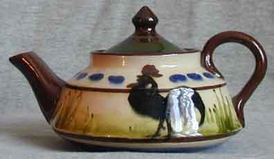 Longpark Pottery Teapot with black cockerel