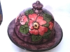 Longpark Pottery Butter Dish in the Alexandra Rose pattern