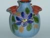 Longpark Pottery Udder Vase with floral decoration