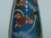 Longpark Pottery Vase with scroll decoration on blue ground