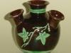 Longpark Pottery Udder Vase with ivy decoration