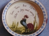 Longpark Pottery Baby Bowl with coloured cockerel and nursery rhyme