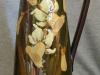 Longpark Pottery Jug with daffodils on green ground