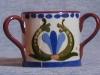 Longpark Pottery miniature 2-handed Tyg, scandy pattern