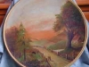 Longpark Pottery Plate with oil painting