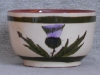 Longpark Pottery Bowl with thistle decoration