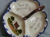 Longpark Pottery Dish for biscuits, cheese and butter, cottage decoration