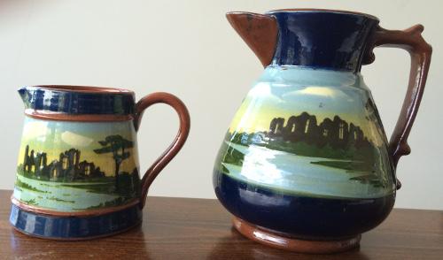 Longpark Pottery, marked Tormohun, found in Australia. Tintern Abbey pattern