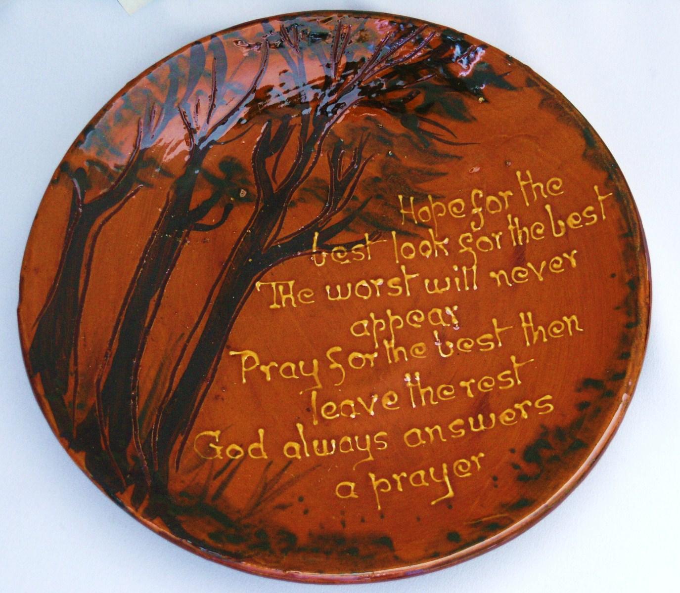 Longpark Pottery Rustic Ware Plate 11ins