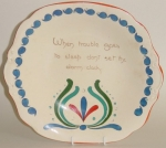 Willow Art Pottery Plate