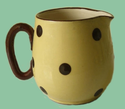Polka dot jug  by base marked NF Carter