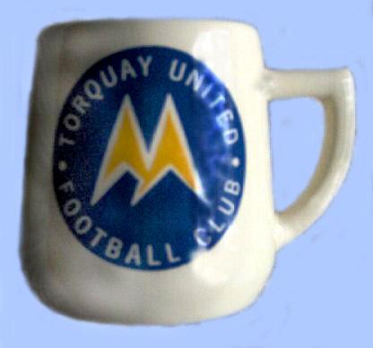 Babbacombe Pottery football mug