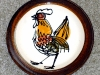 Priddoe's Studio Pottery cockerel plate