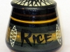 Priddoe's Studio Pottery container.