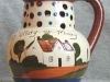 Watcombe Pottery Puzzle Jug, Cottage decoration, (fairly rare), 5ins high