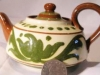 Aller Vale Teapot with unusual green scandy