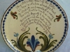 Longpark Pottery large Plate with double Scandy and Super Motto regarding the 'Hand of the Potter'