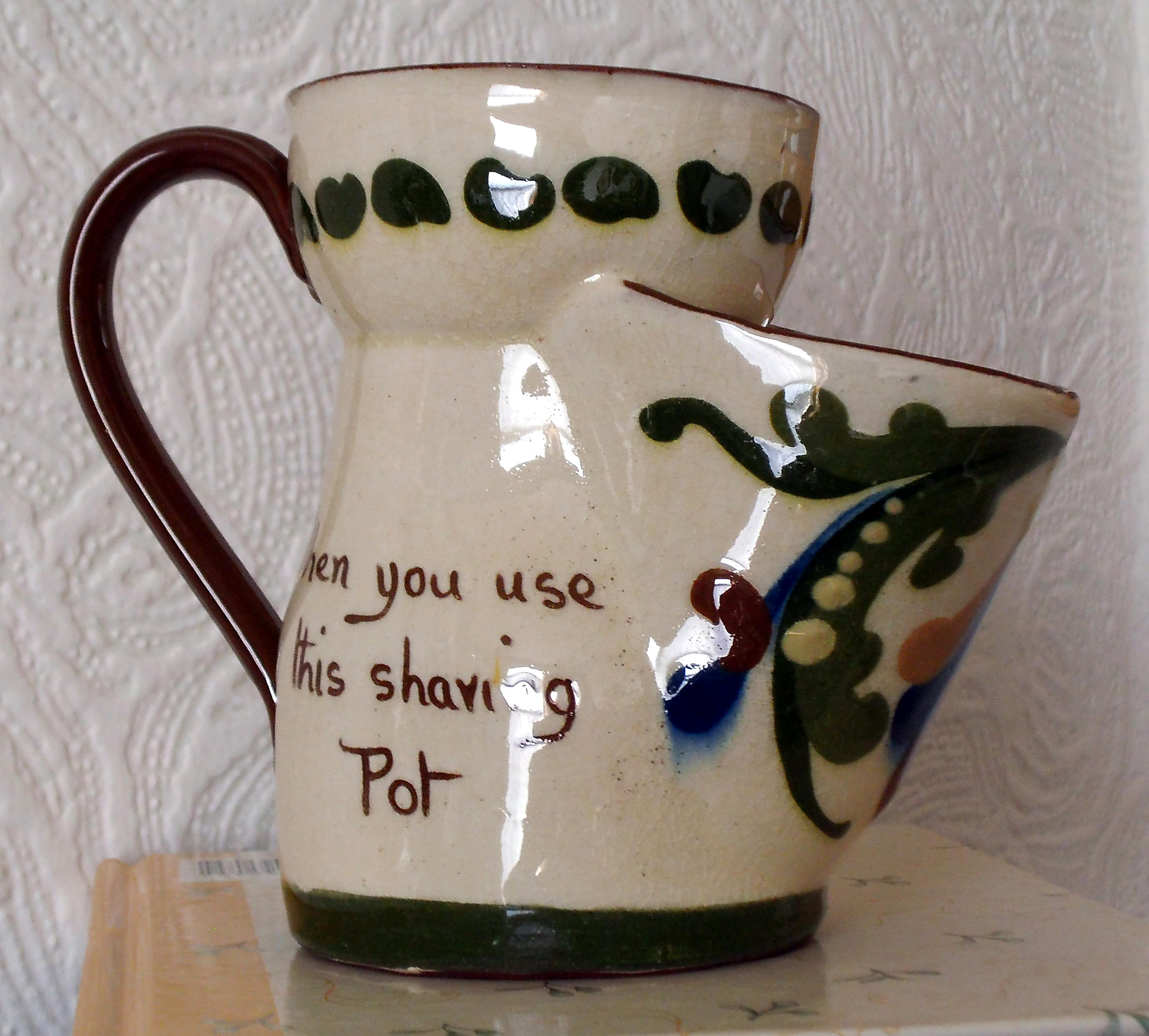 Aller Vale shaving mug with Scandy decoration.