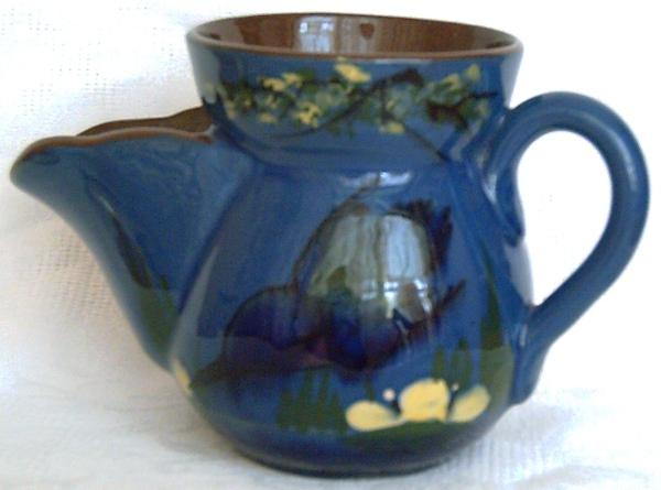 Longpark Pottery, Shaving Mug with Kingfisher decoration