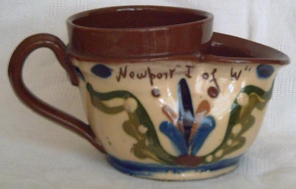 Torquay Pottery, Shaving Mug with Scandy decoration