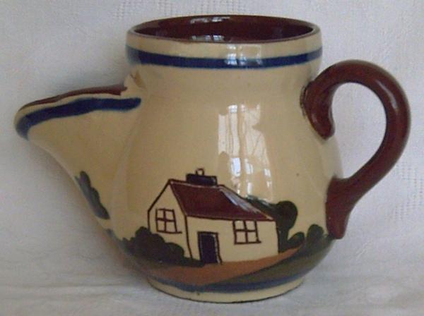 Longpark Pottery, Shaving Mug with Cottage decoration