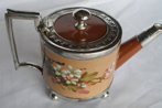 Watcombe Pottery Teapot with silver fittings