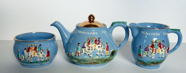 Dartmouth Pottery Teapot with Widecombe Fair