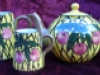 Watcombe Pottery Teaset with Cherry pattern