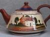 Watcombe Pottery 4-pint Teapot marked 'Gunn's Lynton' on base