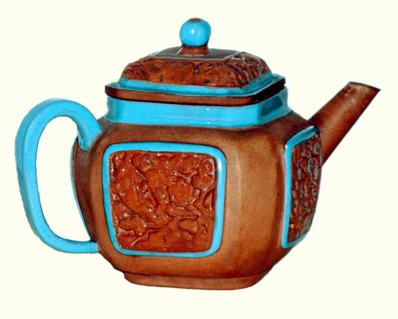 Watcombe Pottery teapot 2