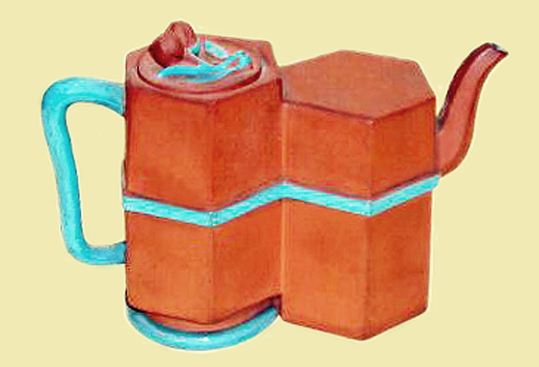 Watcombe Pottery teapot 3