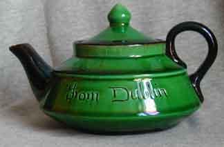 Watcombe Teapot marked \'Dublin\'