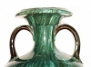 Torquay Terracotta Company. A flown glazed vase marked Hele Cross.