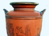 Torquay Terracotta Company. A pot painted with classical figures.
