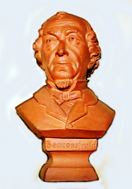 Torquay Terracotta Company. A bust of Lord Beaconsfield.
