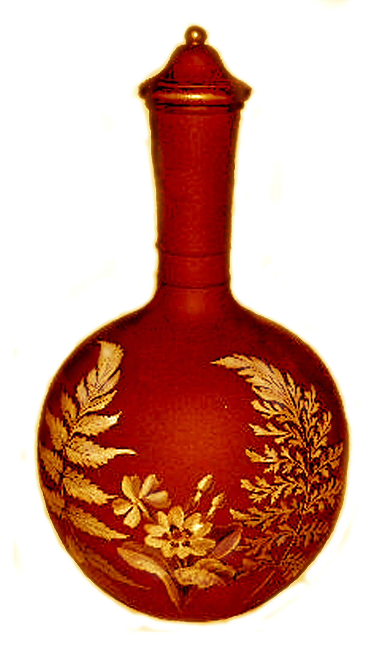 Torquay Terracotta Company. A bottle vase decorated by A. Fisher.