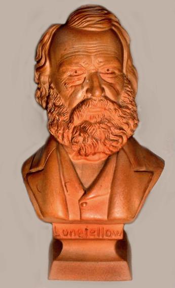 Torquay Terracotta Company. A bust of Longfellow.
