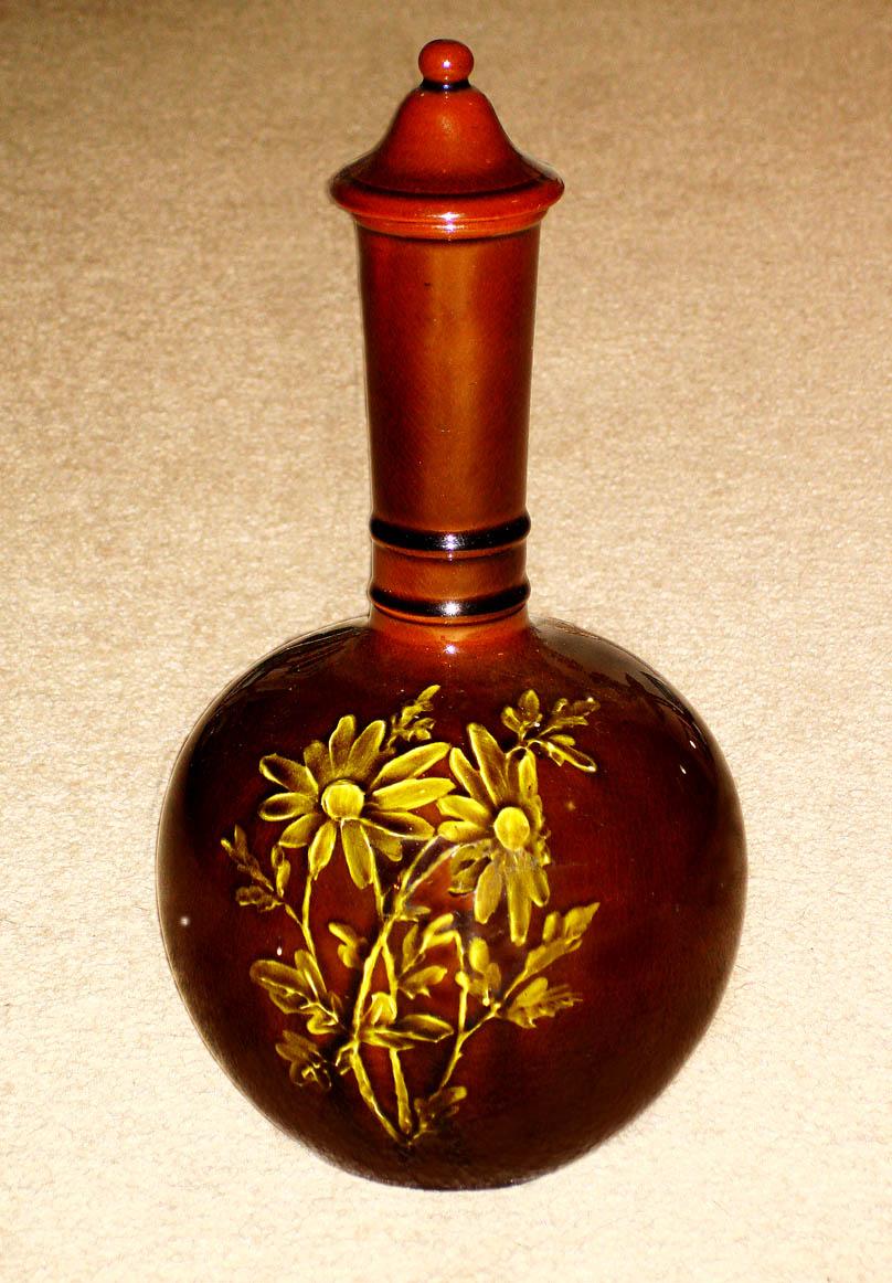 Torquay Terracotta Company. Stapleton vase with underglaze slip decoration.