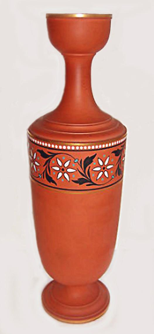 Torquay Terracotta Company.Fine vase turned by William Higginbotton.