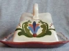 Torquay Pottery Cheesedish with Scandy decoration