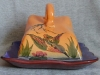 Torquay Pottery Cheesedish with Kingfisher decoration