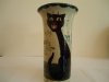 Tor Vale Pottery Vase with Cat marked 'In the Stilly Night'